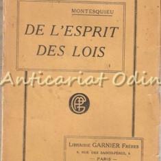 De L'esprit Des Lois - Montesquieu