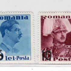 Romania  1937  Carol    serie cu supratipar