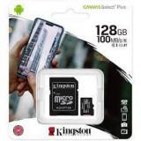 Card de memorie MicroSD Kingston Canvas Select Plus, 128GB, 100MB/s, cu adaptor, Micro SD, 128 GB