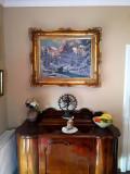 Tablou autentic Neogrady Laszlo, Peisaje, Ulei, Realism