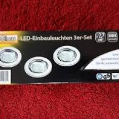 I-Glow LED spoturi încastrate, set de 3
