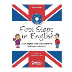 First Steps in English, Lectii pentru incepatori, contine CD audio