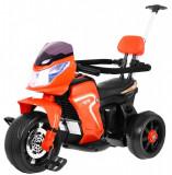 Motocicleta electrica cu pedale si maner parental HL108, portocaliu