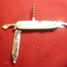 Briceag vechi german din inox ,L=9cm ,varful lamei indoit ,uzat