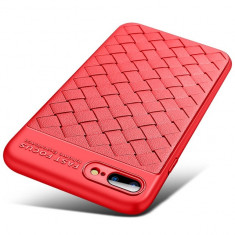 Husa SAMSUNG Galaxy S8 Plus - AutoFocus Piele (Rosu)