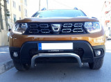 Duster II (2018-) - Bullbar - crom (compatibil cu camera 360 grade)