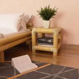 Noptieră 40 x 40 x 40 cm, bambus, culoare naturală