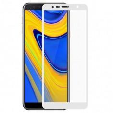 Folie de Sticla 5D SAMSUNG Galaxy J6 2018 (Alb) Full Glue