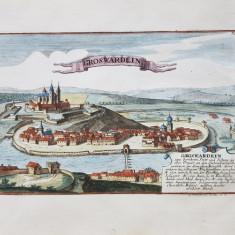 GROSWARDEIN, ORADEA - GRAVURA, Circa 1780