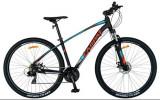 Bicicleta MTB-HT CARPAT C2957C, roti 29inch, cadru aluminiu, frane mecanice disc, 24 viteze (Negru/Albastru)