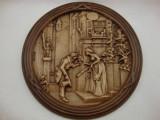 TABLOU / APLICA CERAMICA CU MODEL IN RELIEF - CARL SPITZWEG