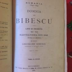Domnia lui Bibescu, legi si decrete, razvratirea din 1848, volumul II
