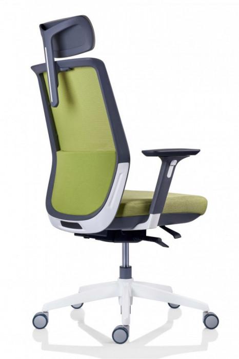 Scaun ergonomic rotativ TESLA Mesh PDH verde