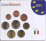 Italia Set 8 - 1, 2, 5, 10, 20, 50 euro cent, 1, 2 euro 2002 - UNC !!!