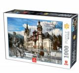 Cumpara ieftin Puzzle Romania - Castelul Peles Iarna, 1000 piese