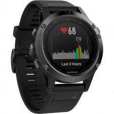 Ceas smartwatch Garmin Fenix 5, HR, GPS, Slate Gray