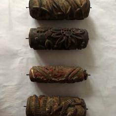 Lot 4 bucati rol de zugravit cu model, vechi, vintage ,15 cm lungime