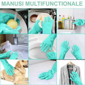 Manusi multifunctionale din silicon Magic Gloves
