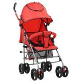 Cărucior/căruț copii pliabil 2-în-1, roșu, oțel