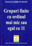 Grupuri finite cu ordinul mai mic sau egal cu 11/Adrian Manu