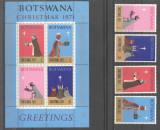 Botswana 1971 Christmas, Religion, set+perf.sheet, MNH E.191