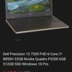 Laptop dell precision 7530, 16gb,512ssd