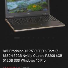 Laptop dell precision 7530, 16gb,512ssd