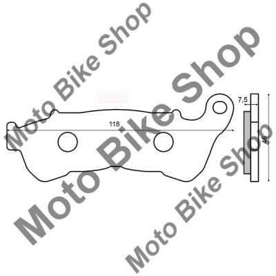 MBS Placute frana sinter Honda SH 150I fata, Cod Produs: 225102543RM foto