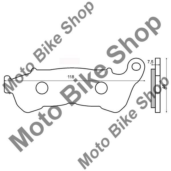 MBS Placute frana sinter Honda SH 150I fata, Cod Produs: 225102543RM