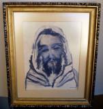 T.086 TABLOU ACUARELA PORTRET SEMNAT PAUL MIRACOVICI