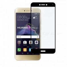 Folie Sticla Huawei P8 Lite 2017 Huawei P9 Lite 2017 Black Fullcover 2.5D Tempered Glass Ecran Display LCD