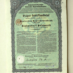 Titlu De Stat Obligatiune Germania-1928-100-Goldmark.