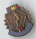 Insigna veche GMA RECONFIRMARE categoria 1 - Concurs sportiv 1950
