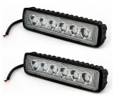 Set 2 x Proiector LED Auto Offroad 18W 12V-24V 1320 Lumeni, Universal