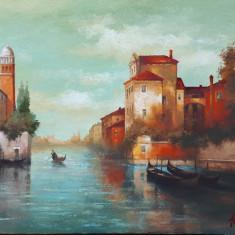 Tablou pictura / peisaj, Peisaje, Ulei, Miniatural