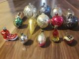 15 globuri românești din sticlă pentru bradul de Crăciun perioada comunistă RSR