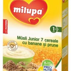 Cereale Milupa Musli Junior 7 cereale cu banane si prune, 250g