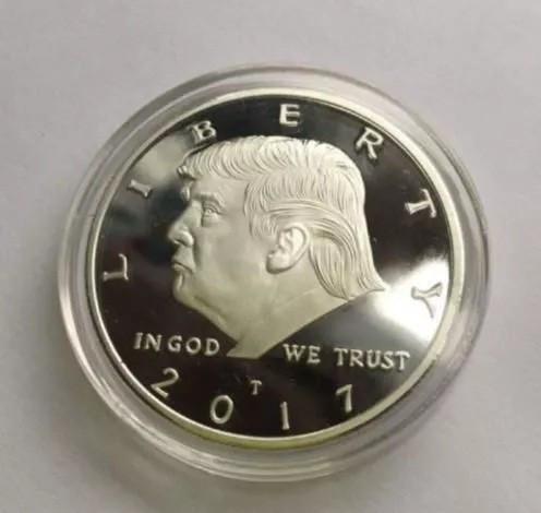 Moneda colectie comemorativa aurie Donald Trump 2017 USA