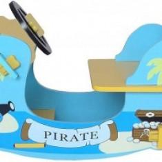 Balansoar Copii Fun din lemn Blue Pirate Boat