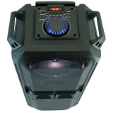 Boxa Activa Portabila Tip Troller, cu Microfon Bluetooth Telecomanda si Radio