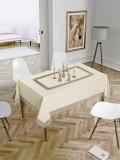 Față de masă Valentini Bianco,160×160 cm, Model cu o broderie Crem
