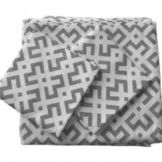 Set de cuverturi pentru canapea si fotolii , Fust063 Gri