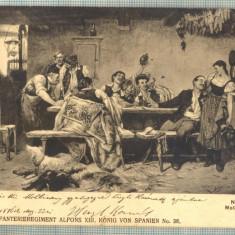 AD 309 C. P. VECHE MILITARA -K.U.K. INFANTERIEREGIMENT ALFONS XIII -CIRC.FOCSANI