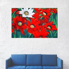 Tablou Canvas, Pictura Flori Rosii Si Albe - 40 x 60 cm
