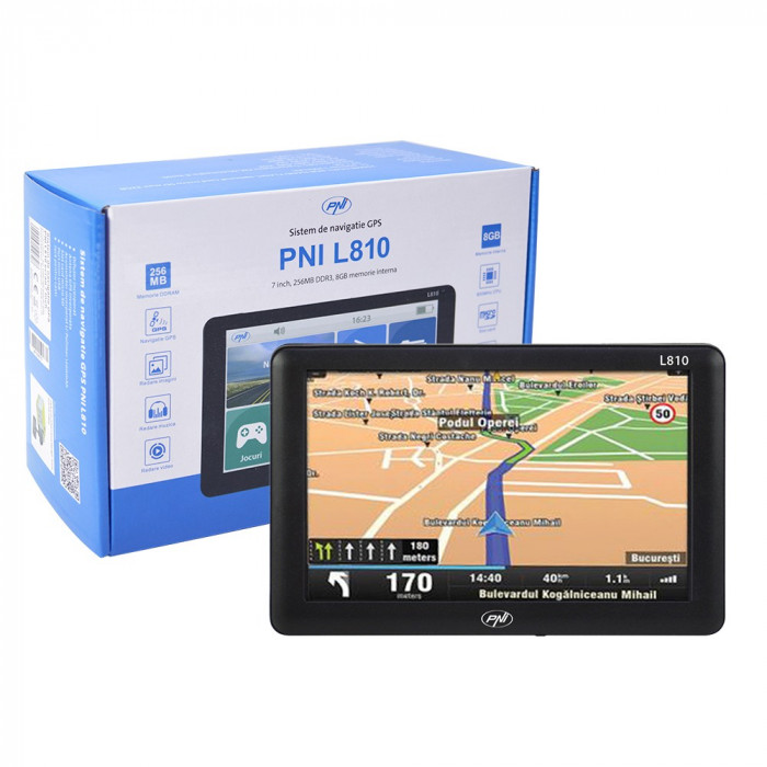 Aproape nou: Sistem de navigatie GPS PNI L810 ecran 7 inch, harta Europei Mireo Don