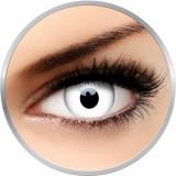 Crazy Whiteout | lentile de contact colorate albe anuale - 90 purtari (2 lentile/cutie)