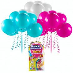 Set baloane Bunch O Ballons Party, 24 bucati, Roz/Bleu/Alb
