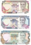 Bancnota Zambia 5, 10 si 20 Kwacha 1989/91 - P30 (rara)/ 31a/ 32b UNC ( set x3 )