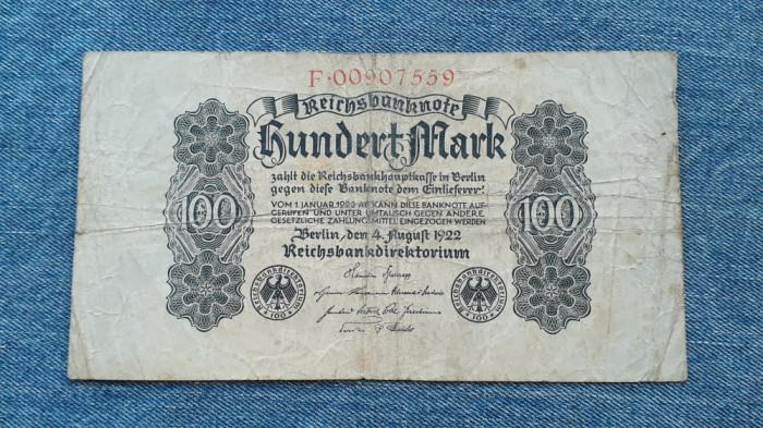 100 Mark 1922 Germania / marci germane / seria 0090759