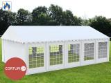 6X10 M CORT EVENIMENTE PROFESIONAL ECONOMY, PVC ignifug 500g/m² ALB